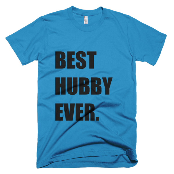 Best Hubby Ever T-shirt in Teal