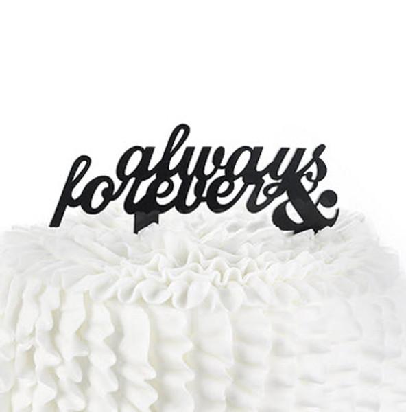 Anniversary cake topper - Always & Forever