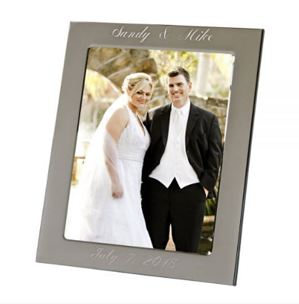 """Engraved Silver Anniversary Photo Frame 8"""" x 10"""""""