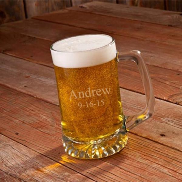Engraved Anniversary Beer Mug