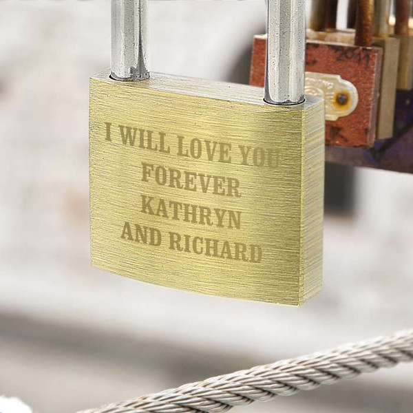 Personalized Love Lock