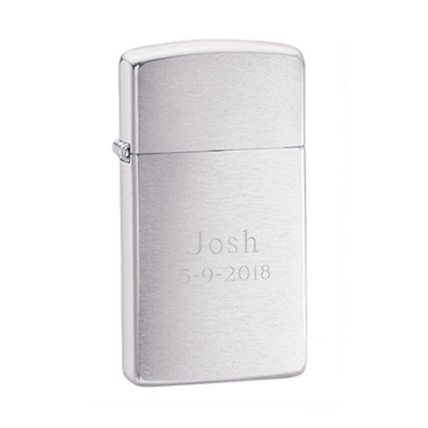 Zippo engraved with Wedding Date