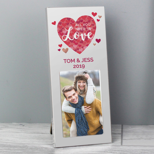 Personalized Anniversary Photo Frame with Love Is All You Need
