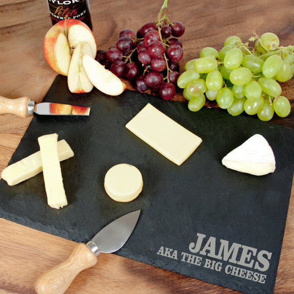 Personalized Slate Cheese Board for your Husband