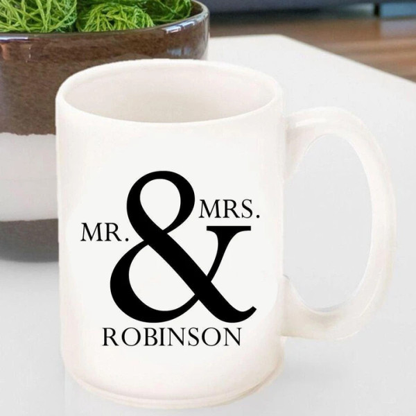 Mr and Mrs Personalized Mug