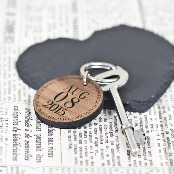 Customized special date key chain