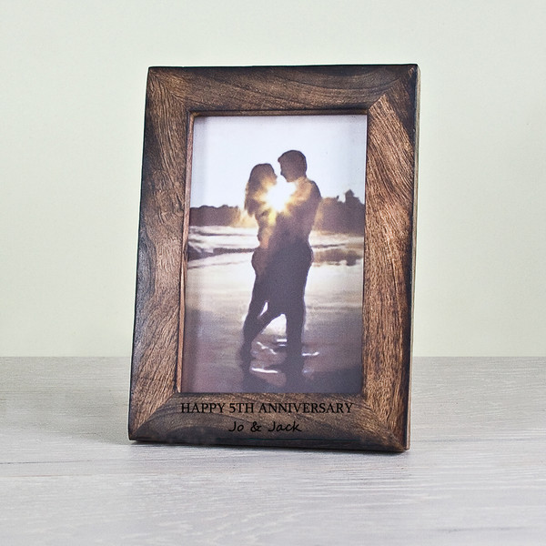 Personalized 5th Anniversary Photo Frame