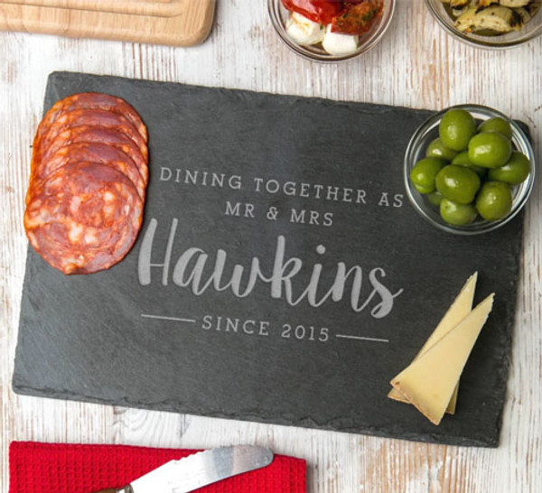 Personalized Dining Together Since Slate Board