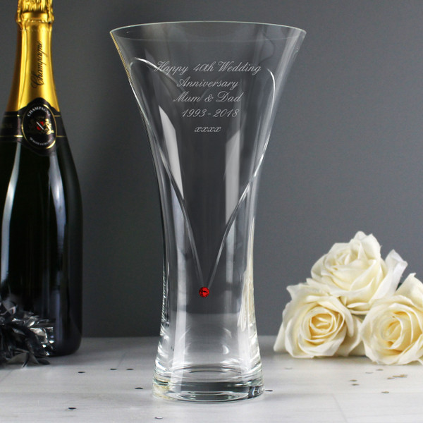 Personalized 40th Anniversary vase