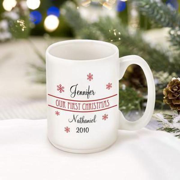 Personalized First Christmas Together Mug