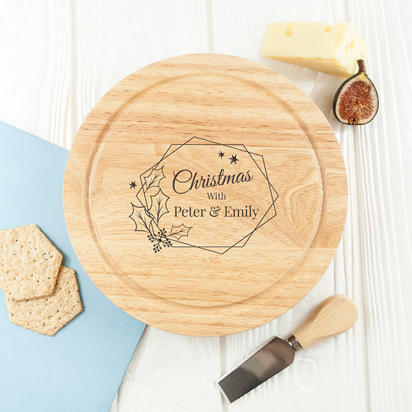 Couple's Personalized Christmas Cheese Board