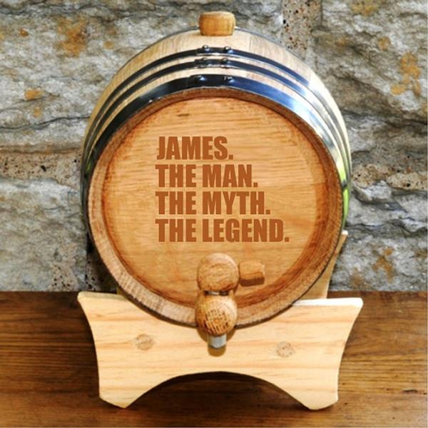 The Man, The Myth, The Legend Whisky Barrel