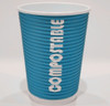 12oz Renewables™ Ripple Grip® Ripple Wall Compostable Cup (Teal)