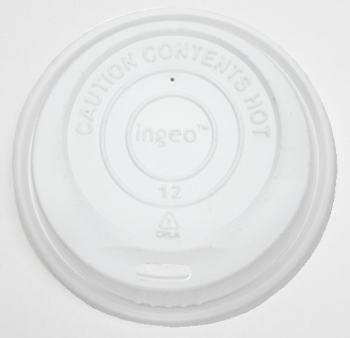 80mm cPLA Standard Compostable Lid, Fits 8oz Coffee Cups