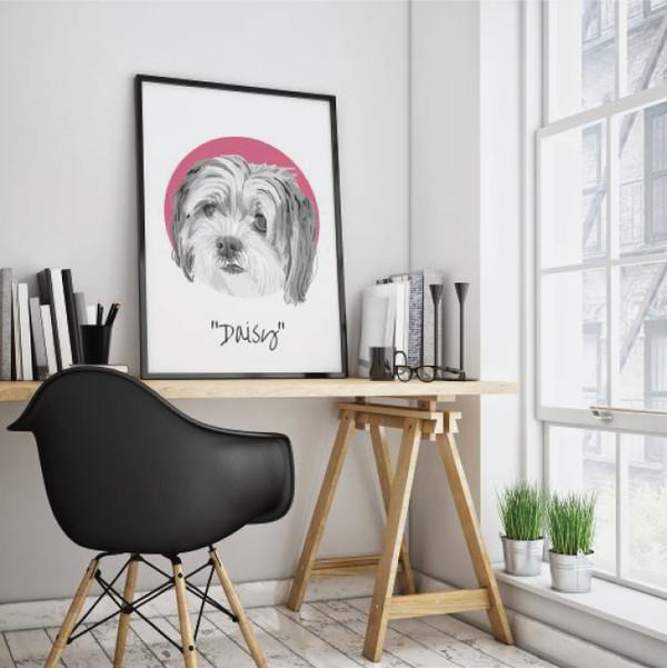 Custom Pet Portrait , Pet Art from photo, Personalized Pet Portrait, Dog Portrait, Portrait from photo, Pet memorial