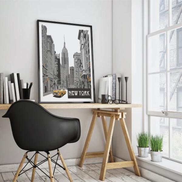 New York Print, New York art, Street scene art, New York poster, Manhattan art
