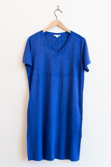 JOH washable faux suede pocket dress