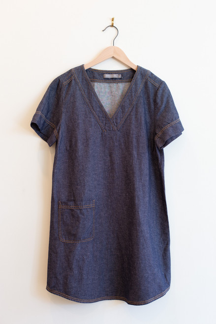 209 wst denim pocket dress
