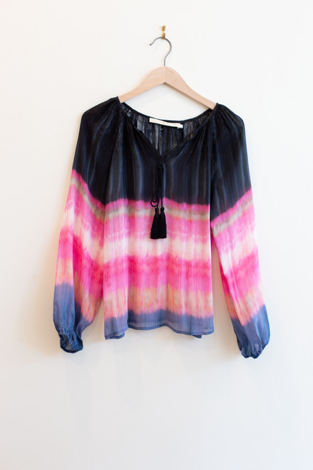 Marie Oliver silk tie dye blouse