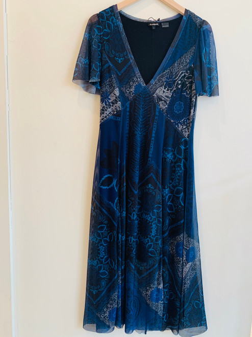 Desigual blue black floral dress