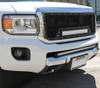 "15 16 17 18 19 GMC Canyon Custom Black Mesh Aluminum Grille & 21"" Cree Led LightBar with Wiring Harness & Stainless Bolts"