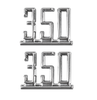 64 65 66 67 Chevy Impala Chevelle Nova Camaro Fender 350 Chrome Script Emblems
