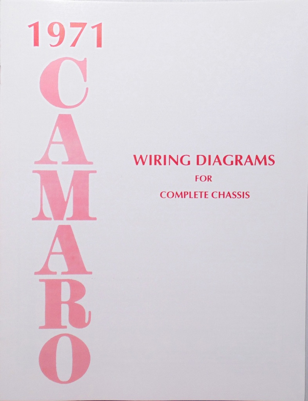 71 Chevy Camaro Electrical Wiring Diagram Manual 1971 I 5 Classic Chevy