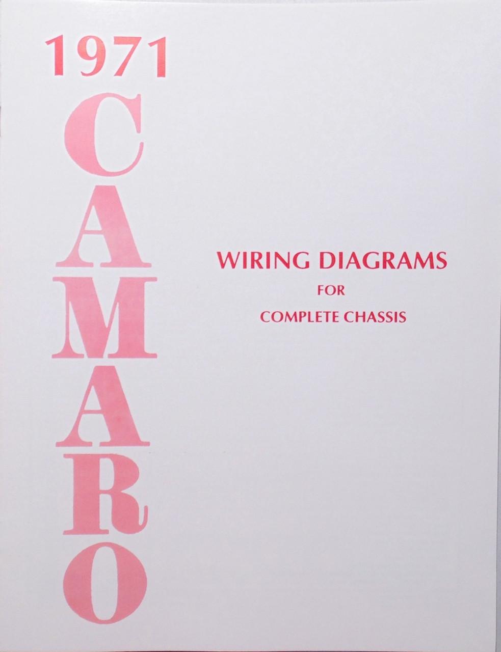 71 chevy camaro electrical wiring diagram manual 1971