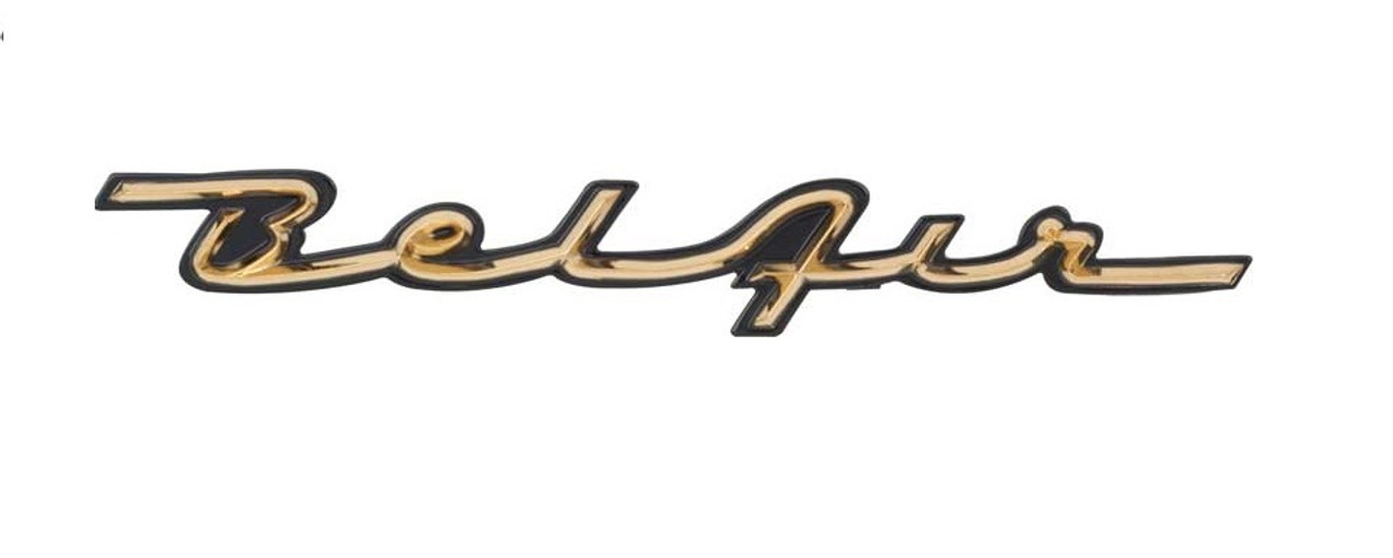 57 1957 Chevy Chevrolet Belair Bel Air Dash Trim Script Emblem I 5