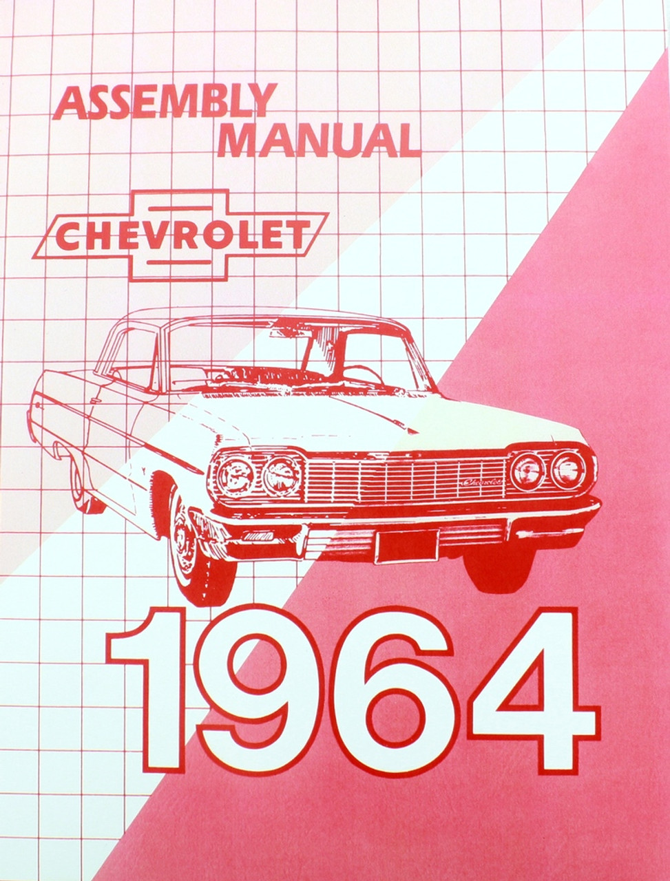 64 1964 Chevy Impala Bel Air Biscayne Factory Assembly Manual
