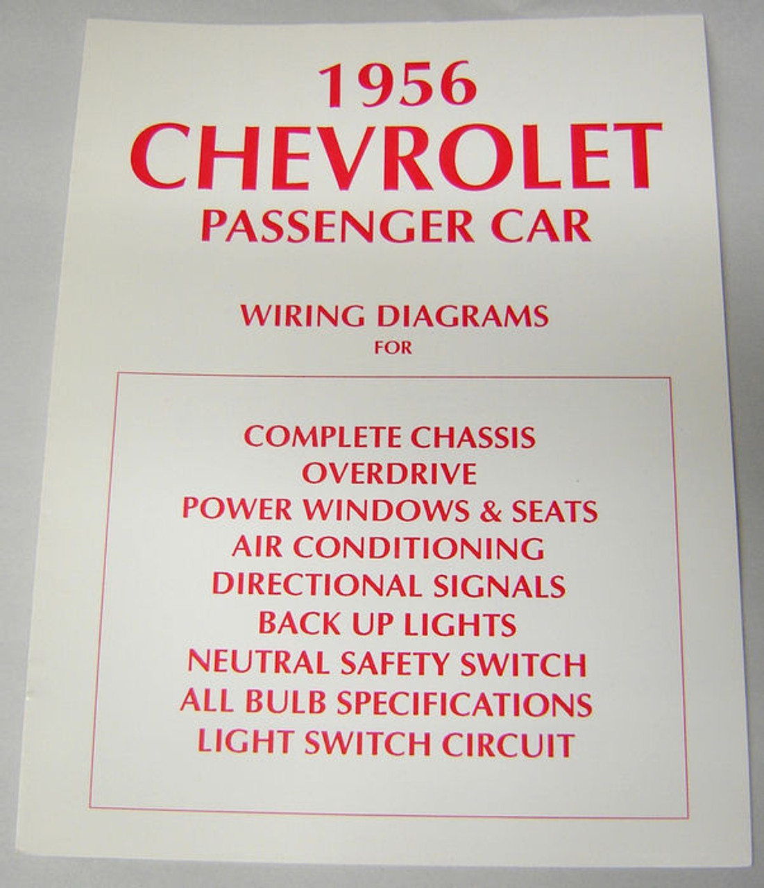 56 1956 chevy electrical wiring diagram manual 1956 mga wiring diagram technical