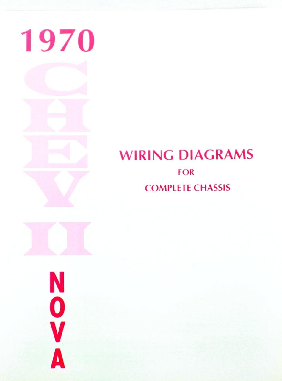 70 Chevy Nova Electrical Wiring Diagram Manual 1970