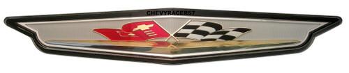 61 1961 Chevrolet Impala V8 348 409 Flags Front Grille Plastic Insert Emblem