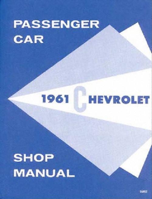 61 1961 Chevy Impala Shop Repair Manual Book