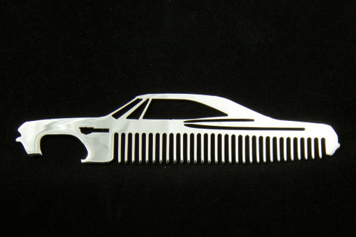 65 66 Chevy Impala Polished Stainless Steel Metal Trim Beard Hair Mustache Comb