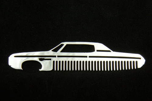 69 Chevy Impala Polished Stainless Steel Metal Trim Beard Hair Mustache Comb