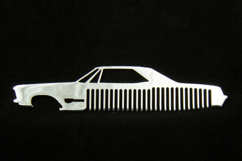 63-65 Buick Riviera Polished Stainless Steel Metal Trim Beard Hair Mustache Comb
