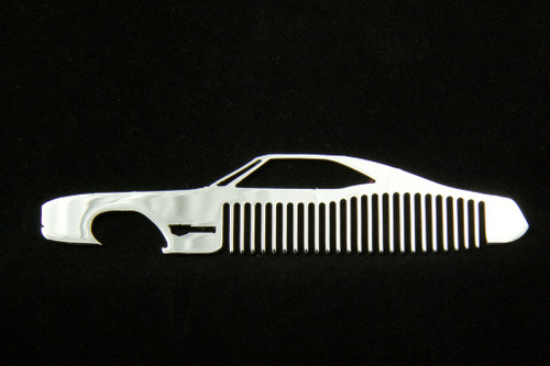 66 67 Buick Riviera Polished Stainless Steel Metal Trim Beard Hair Mustache Comb