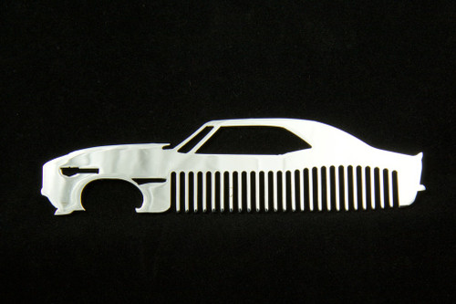 69 Chevy Camaro Polished Stainless Steel Metal Trim Beard Hair Mustache Comb