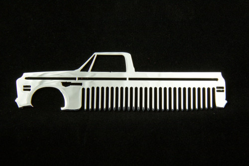 69-72 Chevy Truck Polished Stainless Steel Metal Trim Beard Hair Mustache Comb