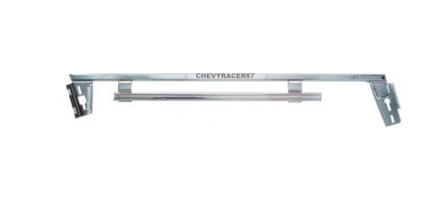 61 62 63 64 Chevy Impala Chrome Side Window Lower Door Glass Frame Track Left