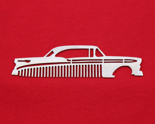 56 1956 Chevy Bel Air Brushed Stainless Steel Metal Trim Beard Hair Mustache Comb