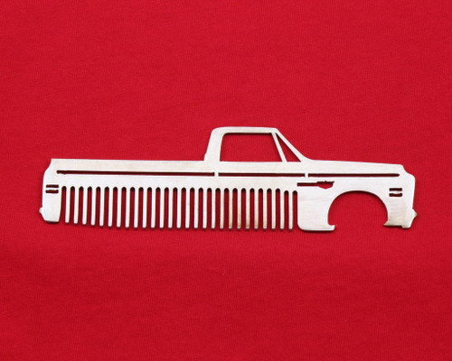 69-72 Chevy Truck Brushed Stainless Steel Metal Trim Beard Hair Mustache Comb