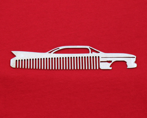 60 Cadillac Coupe Deville Brushed Stainless Steel Trim Beard Hair Mustache Comb