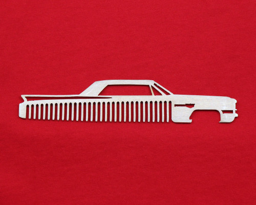 63 64 Cadillac Coupe Deville Brushed Stainless Trim Beard Hair Mustache Comb
