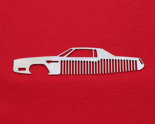 67-70 Cadillac Eldorado Brushed Stainless Steel Trim Beard Hair Mustache Comb