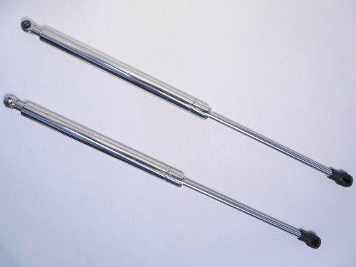 14-16 C7 Corvette Deluxe Stingray Polished Stainless Steel Hood Struts Props Shocks Lift Support