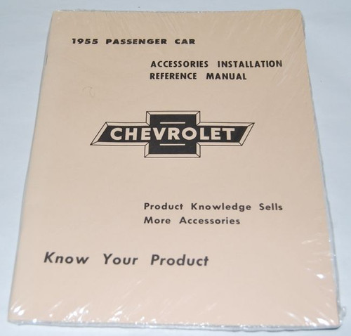 55 1955 Chevy Chevrolet Accessory Installation Manual Book