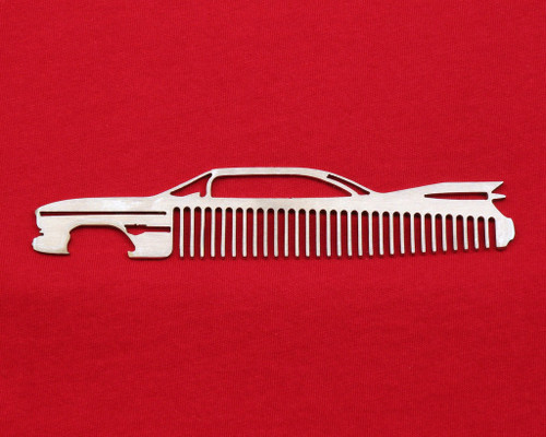 59 Cadillac Coupe Deville Brushed Stainless Steel Trim Beard Hair Mustache Comb