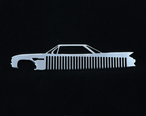 61 62 Cadillac Coupe Deville Polished Stainless Trim Beard Hair Mustache Comb
